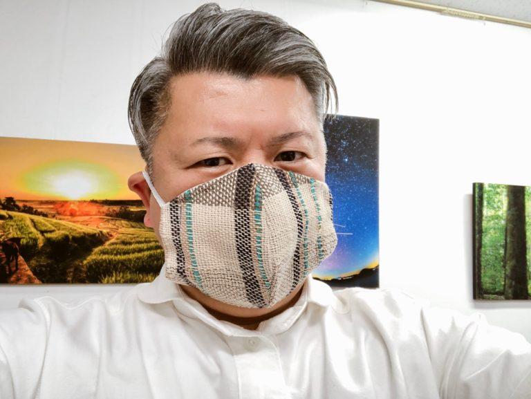 さおり織りさんに織ってもらった第二号マスク